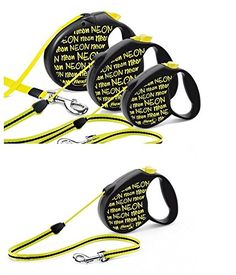 FLEXI Dog Automatic stretching Traction rope Dog chain Yellow (L) -- You can get more details by clicking on the image.