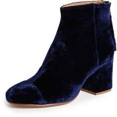 Madewell Glenda Boots (€180) ❤ liked on Polyvore featuring shoes, boots, ankle booties, night vision, zip ankle boots, madewell booties, madewell, toe cap boots and madewell boots