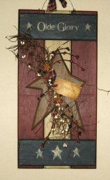 Primitive Country Hand Stenciled Wood Signs and Crafts
