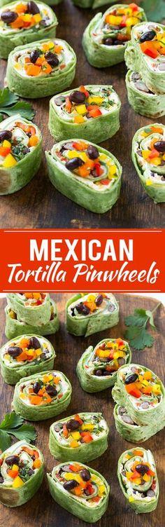 Mexican Tortilla Pinwheels Recipe   Mexican Pinwheels   Pinwheel Recipe   Roller Sandwichers
