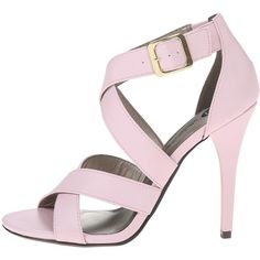 Michael Antonio Keith Women's Sandals, Pink ($14) ❤ liked on Polyvore featuring shoes, sandals, michael antonio, open toe high heel shoes, vegan sandals, high heel shoes and faux leather sandals