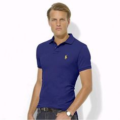 Polo Men Ralph Lauren Darkblue Short Sleeved  http://www.ralph-laurenoutlet.com/