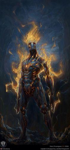 Magma humanoid