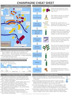 Clear Lake Wine Tasting: Wine Infographic:  Champagne Cheat Sheet