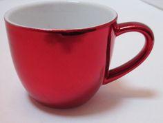 Starbucks Espresso Cup Holiday 4 oz Coffee Red Shiny Demitasse Mug 4 oz 2007 #StarbucksCoffee #Espresso