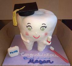 Dental Assistant graduation tooth cake