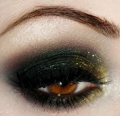 Dark green and gold