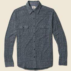 Faherty Belmar Duofold Shirt - Charcoal