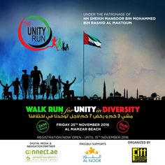 On Friday November 25th we're proud to be sponsors of The Unity Run​ a sporting event that includes participants of all abilities, all backgrounds, all ages celebrating the wonderful diversity in the UAE.Run, walk, wheel - the Unity Run encourages push rim wheelchairs, visually impaired/blind participants and the mobility impaired.  We hope to see you there!  Register now: https://dubai.platinumlist.net/event-tickets/38354/the-unity-run-dubai-2016?show=38210