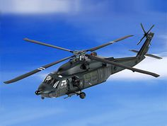 """BBI 1:18 Sikorsky MH-60 Plastic Model Airplane - BB003958 This Sikorsky MH-60 Night Raid Black Hawk Plastic Model Airplane features working rotors, gun stations and also opening cabin doors. It is made by BBI and is 1:18 scale (approx. 50cm / 19.7in long).  The Blue Box International 1:18 """"Elite Force"""" range presents highly-detailed, ready-made plastic models of military aircraft in 1:18 scale.   Blue Box International 1:18 """"Elite Force"""" display airplanes feature:   - Molded plastic construc... Diecast Model Aircraft, Diecast Models, Cabin Doors, Black Hawk, Models Wanted, Blue Box, Model Airplanes, Plastic Models, Military Aircraft"""