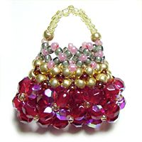 Beaded bag tutorial with great picture diagrams to follow
