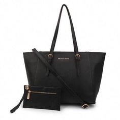 2df9cb56fd17 Michael Kors Jet Set Center Stripe Travel Large Black Totes Are High  Quality And Cheap Price!