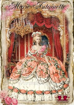 Marie Antoinette - Shabby Chic - Digital Collage Sheet - paper, invitations, gift tags - french vintage - Handmade Imade 007