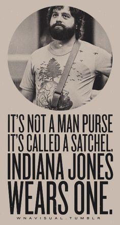 The hangover man purse satchel Indiana Jones