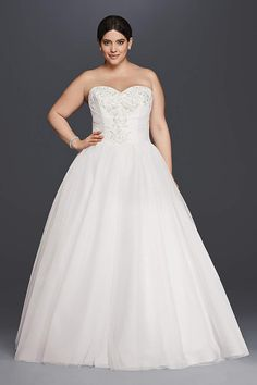 Dreaming of wearing a ball gown wedding dress on your big day? Browse David's Bridal stunning collection of wedding ball gowns & book an appointment now!