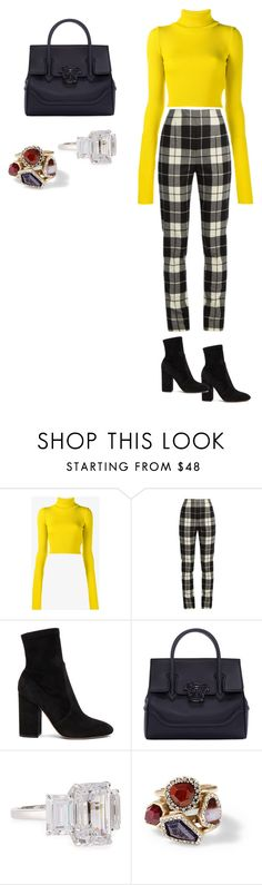 """""""October"""" by brittneymitchell330 ❤ liked on Polyvore featuring Jacquemus, MaxMara, Valentino, Versace, Fantasia by DeSerio and Chloe + Isabel"""