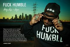 FUCK HUMBLE, The Collaboration Between DOPE x KING CHIP