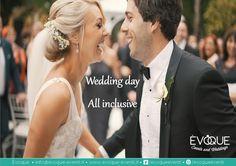 All inclusive wedding day... Location in Esclusiva per tutto il giorno - Welcome Drink, 2 Primi, 2 Secondi, Buffet Frutta e Dolci - WEDDING DAY COORDINATOR - Servizio Regia - Addobbi Floreali - Allestimenti Esterni € 95,00  per info : 389/1597005 info@evoque-eventi.it