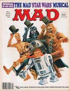 The MAD Magazine Star Wars Musical special! Comic Book Covers, Comic Books, Mad Magazine, Magazine Covers, Magazine Rack, Culture Pop, Mad World, Star Wars Humor, Star Wars Art