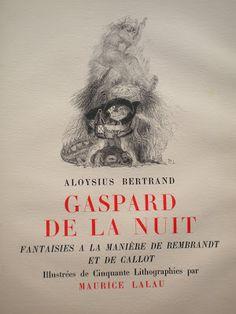 """Mon ami Louis Bertrand dit """"Aloysius"""": L' édition illustrée par Maurice Lalau - 1943"""