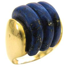 1stdibs | A Gold and Lapis Ring,  c1970