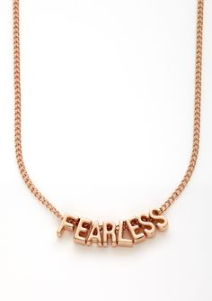 BCBGeneration Fearless Mini Affirmation Necklace