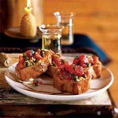 Tomato Crostini - The Best Diet for Gout - Health.com