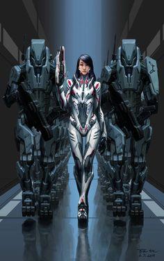 Cyberpunk Girl, Arte Cyberpunk, Cyberpunk 2077, Character Concept, Character Art, Sci Fi Kunst, Arte Sci Fi, Arte Robot, Art Manga
