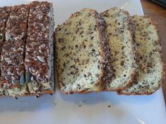 Seed bread sliced