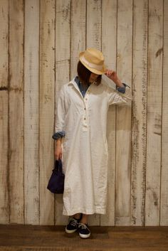 BUCOLIC& FROLIC: Modele Particulier ARMEN〜BACK BOX PLEATED SHIRTS DRESS&FULL SLEEVE DOUBLE BREASTED COAT〜