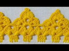 Crochet Edging Patterns, Crochet Borders, Filet Crochet, Crochet Lace, Crochet Stitches, Creative Embroidery, Newborn Crochet, Crochet Videos, Crochet Projects