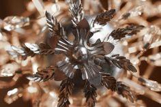 Extravagant lighting fixture | flower lighting fixture | flower chandelier | silver light | garden chandelier | outdoor chandelier