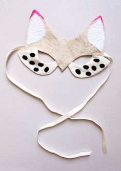 Handmade Felt Fox Mask from Lucille- *Lovely Clusters - The Pretty Blog