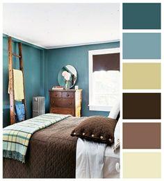 passende farbpalette für schlafzimmer bett schrank