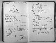 ιδιοχειρο- Αινστάιν από σημειωματάριο του 1912 -ballistic motion as a mental model: The gravitational lensing in Einstein's Prague Notebook from 1912