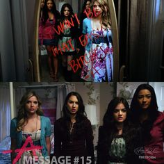 Message 15 from A. Sent to the 4 Liars. Spencer's bedroom. PLLMemoryLane 4 of 150 // Season 1, Episode 4.