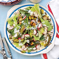 Smoky Chopped Salad with Avocado - 55 Quick & Delicious Summer Salad Recipes - Southern Living