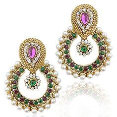 Purple & Green Stone White Pearls Dazzling Bollywood Gold... https://www.amazon.com/dp/B06XP2B3TP/ref=cm_sw_r_pi_dp_x_oGn3yb8NWKDBN