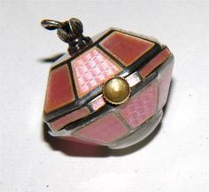 Sterling Silver & Pink Guilloche Watch Fob by PowerOfOneDesigns