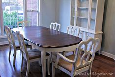 I have the same exact dining room table.  I must do this make over to mine!