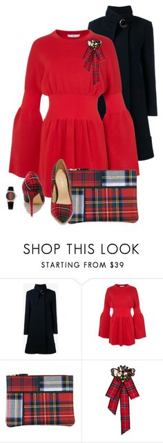 """""""Plaid Bag and Shoes"""" by gigisstyle ❤ liked on Polyvore featuring Chloé, TIBI and Comme des Garçons"""