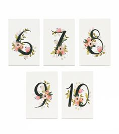 Botanical Table Numbers 2