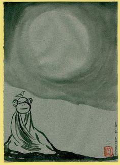 Lynda Barry Meditating Monkey