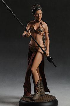 Princess Leia in Slave Outfit Premium Format Statue Star Wars Film, Star Wars Toys, Fantasy Figures, Action Figures, Princess Liea, Princess Leia Bikini, Sideshow Statues, Figuras Star Wars, Custom Funko Pop