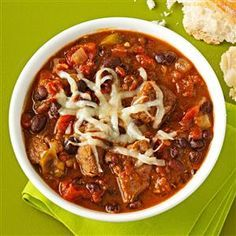 Chipotle-Black Bean Chili Recipe from Taste of Home