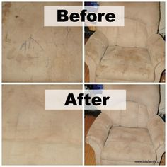 How to clean microfiber - before and after