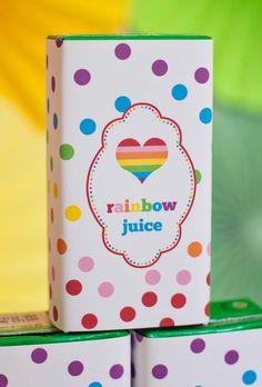 Printable Rainbow Birthday Party Package. $39.50, via Etsy.