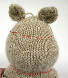 Secrets to shaping knitted toys...