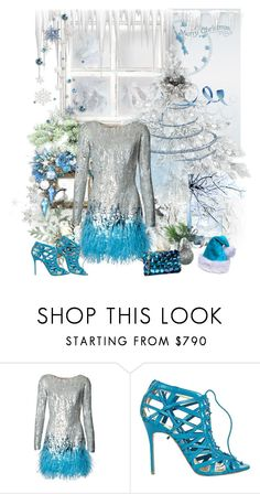 """""""Christmas...."""" by carola-corana ❤ liked on Polyvore featuring Matthew Williamson, Christian Louboutin and Love Moschino"""