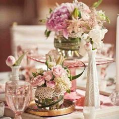 décoration mariage champêtre chic | ... decoration de mariage | centre de table mariage: photo deco table de